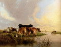 Cattle Watering - Thomas Sidney Cooper