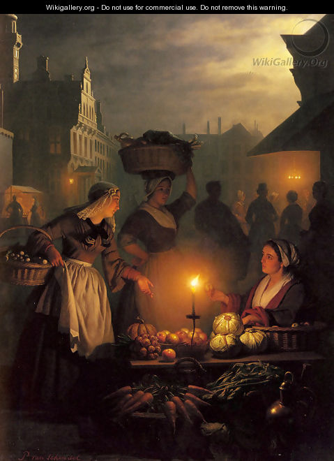 The Night Market - Petrus Van Schendel
