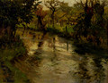 Woodland Scene With A River - Fritz Thaulow