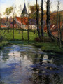 The Old Church by the River - Fritz Thaulow