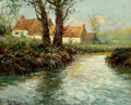 House By The Water's Edge - Fritz Thaulow