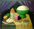 Still Life With Ice Cream Helado - Fernando Botero