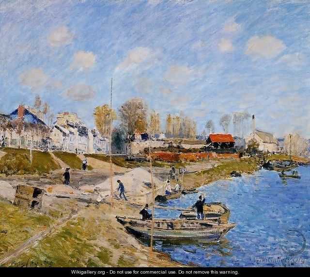 Sand On The Quayside Port Marly - Alfred Sisley