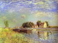 The Canal Du Loing At St Mammes - Alfred Sisley