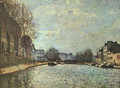 The St. Martin Canal 1870 - Alfred Sisley