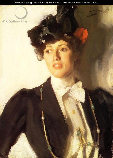 Martha Dana (or Mrs. William R. Mercer) - Anders Zorn