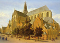 The Exterior Of The Church Of Saint Bavo In Harlem - Gerrit Adriaensz Berckheyde