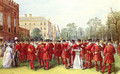 The Parade Of The Yeomen Of The Guard At Clarence House - Nicholas Chevalier