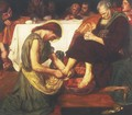 Jesus washing Peter's feet at the Last Supper - Ford Madox Brown