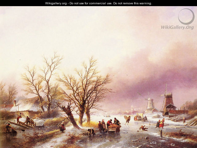A Winter Landscape - Jan Jacob Coenraad Spohler