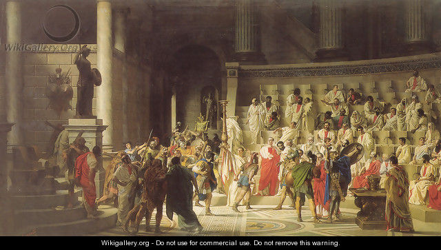 The Last Senate of Julius Caesar - Raffaele Giannetti