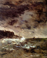 A Stormy Night - Alfred Stevens