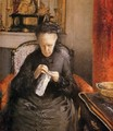 Portait of Madame Martial Caillebote (the artist's mother) - Gustave Caillebotte