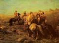 Arabian Horseman near a Watering Place - Adolf Schreyer