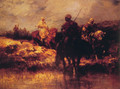 Arabs on Horseback - Adolf Schreyer