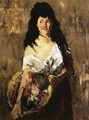 Woman with a Basket - William Merritt Chase