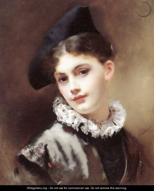 A Coquettish Smile - Gustave Jean Jacquet