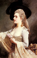 An Elegant Lady in a Black Hat - Gustave Jean Jacquet