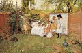 The Open Air Breakfast (or The Backyard, Breakfast Out of Doors) - William Merritt Chase