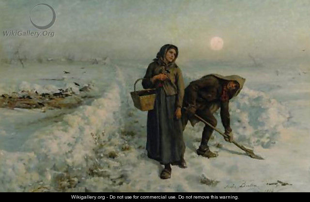 Sur la Route en Hiver, Artois (On the Road in Winter, Artois) - Jules (Adolphe Aime Louis) Breton