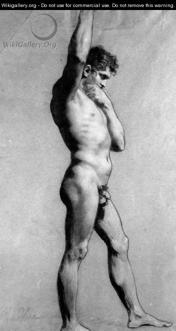 Male Nude Pontificating - Pierre-Paul Prud