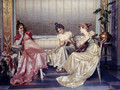 Elegant Figures In An Interior - Vittorio Reggianini