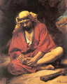 An Arab removing a thorn from his foot - Léon Bonnat