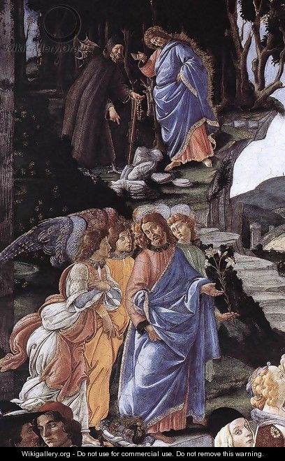 The Temptation of Christ [detail: 1] - Sandro Botticelli (Alessandro Filipepi)