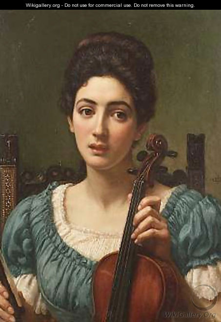 The Violinist - Sir Edward John Poynter