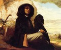 Self Portrait with a Black Dog - Gustave Courbet
