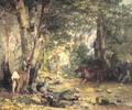 Shelter of the Roe Deer at the Stream of Plaisir-Fontaine, Doubs - Gustave Courbet
