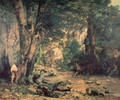 A Thicket of Deer at the Stream of Plaisir-Fountaine - Gustave Courbet