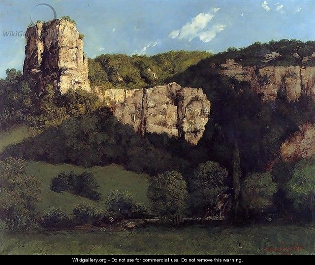 Landscape: Bald Rock in the Valley of Ornans - Gustave Courbet