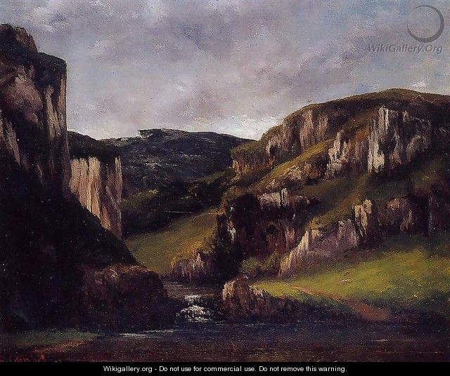 Cliffs near Ornans - Gustave Courbet