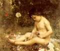 Gathering Woodland Flowers - Louis Courtat
