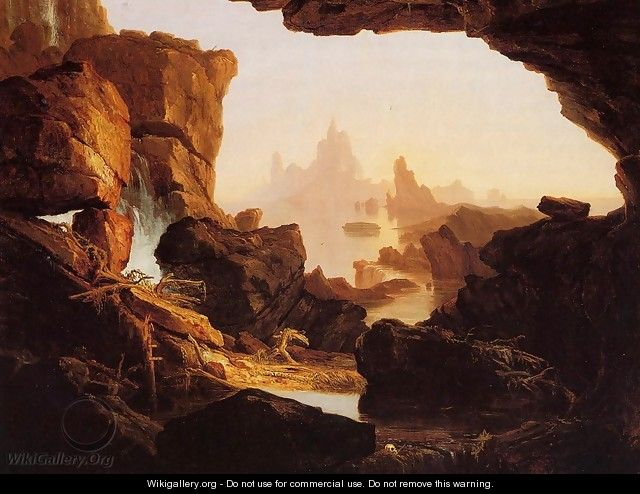 The Subsiding of the Waters of the Deluge - Thomas Cole