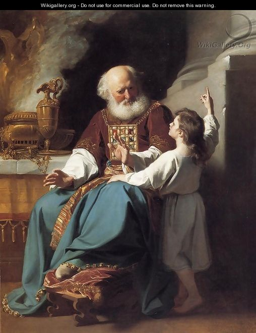 Samuel Reading to Eli the Judgments of God Upon Eli