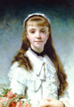 La Fille Du Peintre (Daughter of the Painter) (or Young Girl with Bouquet) - Charles Chaplin