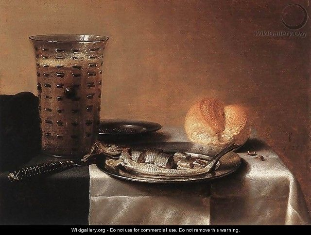 Still Life with Herring - Pieter Claesz.