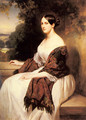 Portrait of Madame Ackerman, the wife of the Chief Finance Minister of King Louis Philippe - Franz Xavier Winterhalter