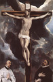 Christ on the Cross Adored by Donors - El Greco (Domenikos Theotokopoulos)