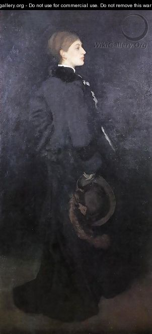 Arrangement in Brown and Black: Portrait of Miss Rosa Corder - James Abbott McNeill Whistler
