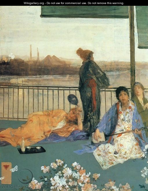 Variations in Flesh Colour and Green: The Balcony - James Abbott McNeill Whistler