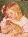 Sara Holding A Cat - Mary Cassatt