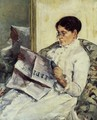 Portrait of a Lady (or Reading 'Le Figaro') - Mary Cassatt