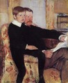Portrait of Alexander J. Cassat and His Son Robert Kelso Cassatt - Mary Cassatt