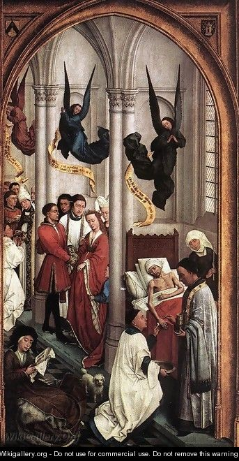 Seven Sacraments Altarpiece: right wing - Rogier van der Weyden