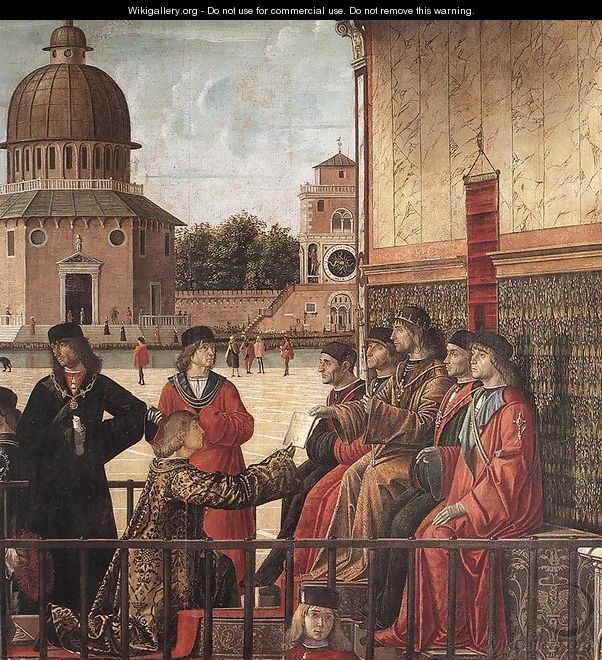 Arrival of the English Ambassadors [detail: 2] - Vittore Carpaccio
