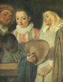 Actors from a French Theatre - detail - Jean-Antoine Watteau