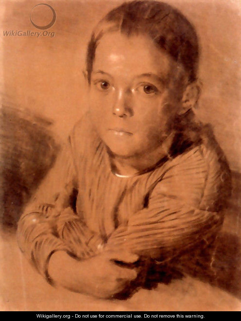 Drawing of a Boy - Adolph von Menzel